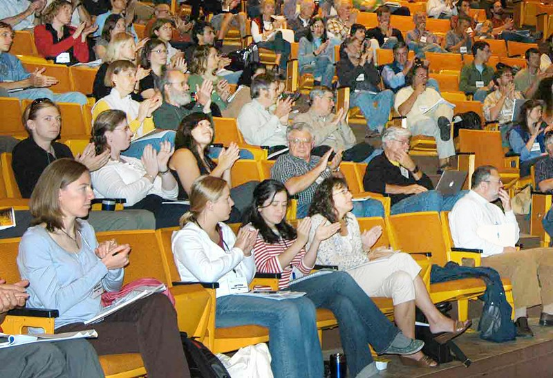 A section of the audience in the plenary hall during the 2009 ASM