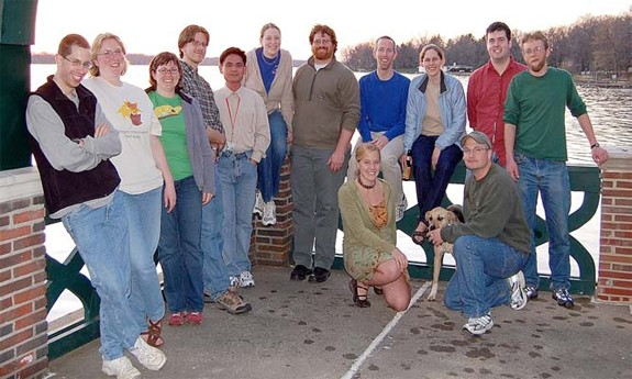 Graduate students at a post-ASM workshops at the Kellogg Biological Station