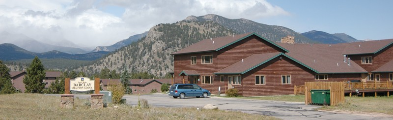 A panoramic view of the YMCA of the Rockies in Estes Park, Colorado
