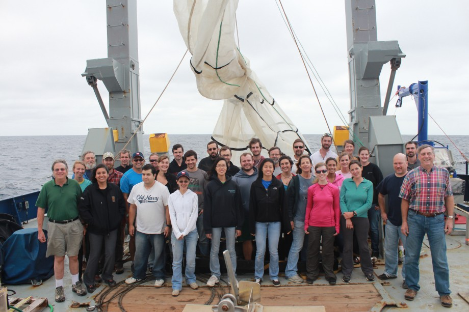 research team on board R/V Mellvile