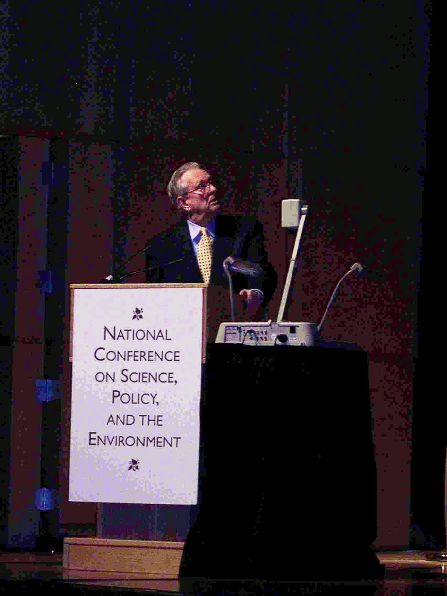 Dr. Arden Bement addressing the National Council for Science and the Environment