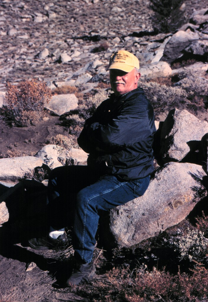 Tom Callahan takes a breather while visiting ruins near the field station