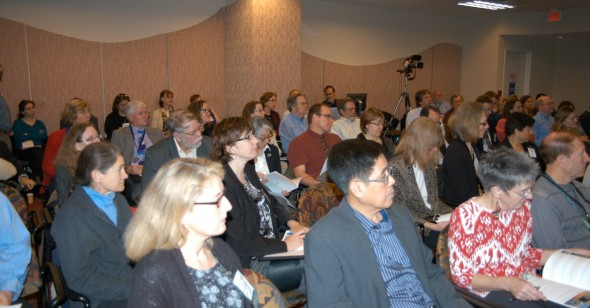 A section of the mini-symposium audience