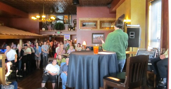 June 2015 Science on Tap discussion in Minocqua Brewery