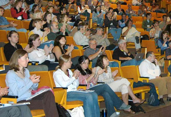 LTER Scientists applaud plenary speaker at the 2009 LTER ASM