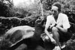 Chantal Blanton with giant tortoise