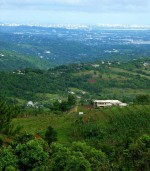 View from the Luquillo Mountains toward San Juan, Puerto Rico