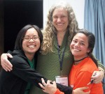 Christina Wong, Sunny Power and ESA President; Sarah Renteria