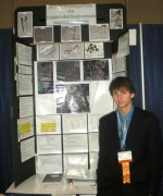 FCE RESSt Chris Sanchez at INTEL ISEF with poster.