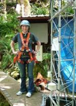 REU student Allie Luftig at the Andrews Forest.