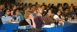 A section of the student audience during the Grad Student Symposium at ASM