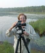 Gail Osherenko behind the camera. Photo: Orah Moore.