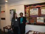 Bonnie Peterson and Cora Marrett  at Reflections exhibit