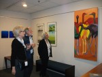 Visitors admire BNZ exhibit