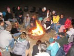 SEEDS students campfire