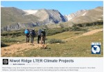 Niwot Ridge has one of the longest CO2 records in the world