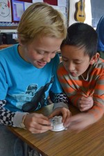students with temp sensor