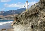 Nick Schooler surveying Refugio oil spill