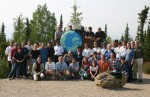 Coordinating Committee meeting participants posed for photos at the Arctic Circl