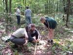 Harvard Forest Schoolyard Coordinator, Pam Snow worked with teachers inventoryin