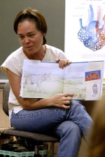 Nataly Ascarrunz reads the book My Water Comes from the Mountains
