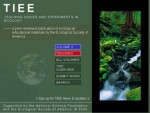 Snapshot of the TIEE Website (www.tiee.ecoed.net)