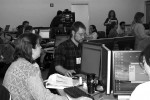 A training session in the IT and Software Usability Testing Lab