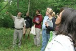Teachers practice field site labeling with Dr. John O'Keefe