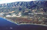 Aerial photo of the Carpinteria watershed